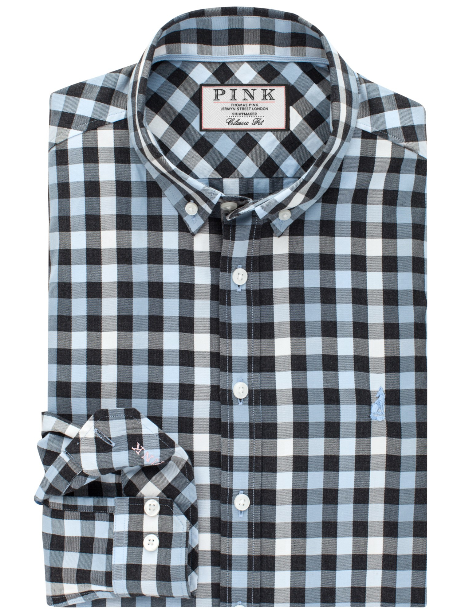 Lyst Thomas Pink Jeffers Check Classic Fit Shirt In Blue