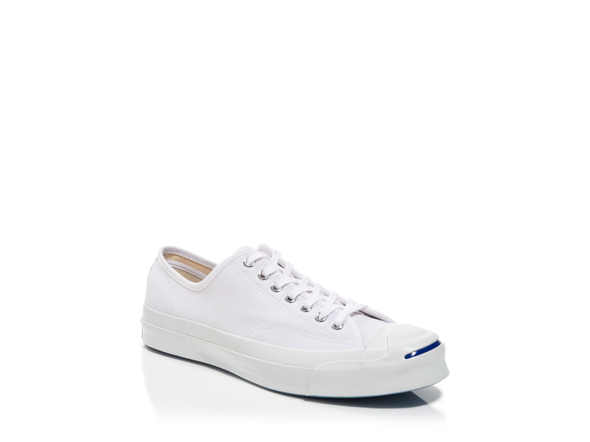 fed0b23f8e526a Lyst - Converse Jack Purcell Signature Canvas Sneakers in White for Men