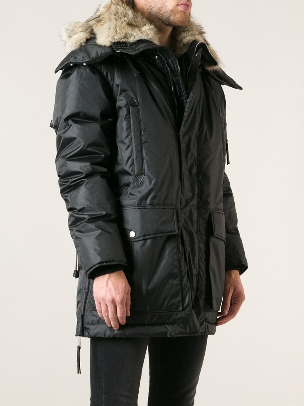 hooded oversized parka coat Dsquared2 Buy Cheap Reliable Low Price Online IDDUkbN