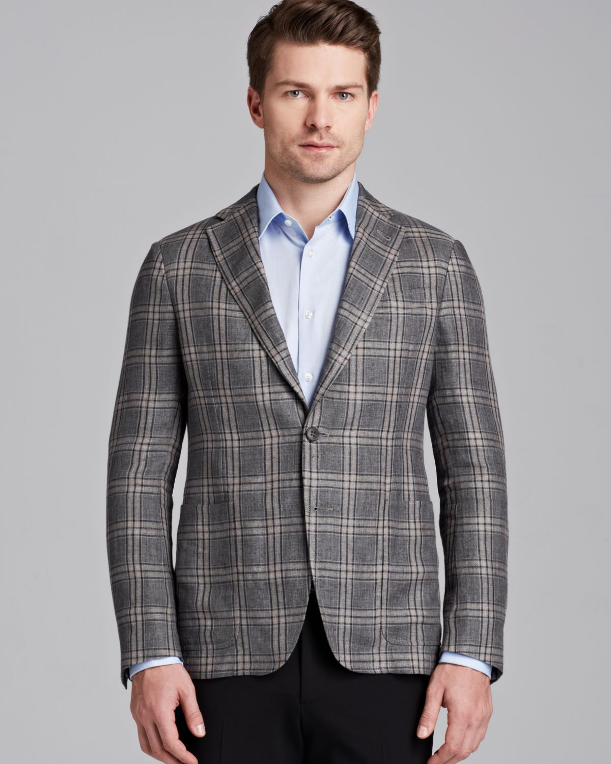 Lyst Armani Triple Windowpane Check Sport Coat Regular