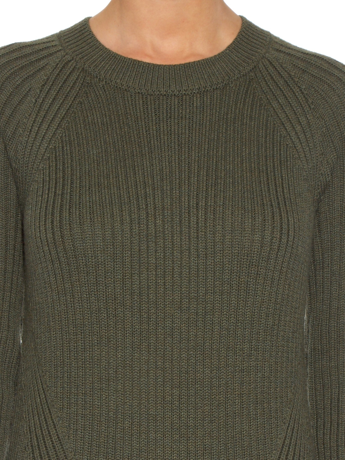 fcfb60a237814 Lyst - Trademark Crew-neck Ribbed-knit Sweater in Natural
