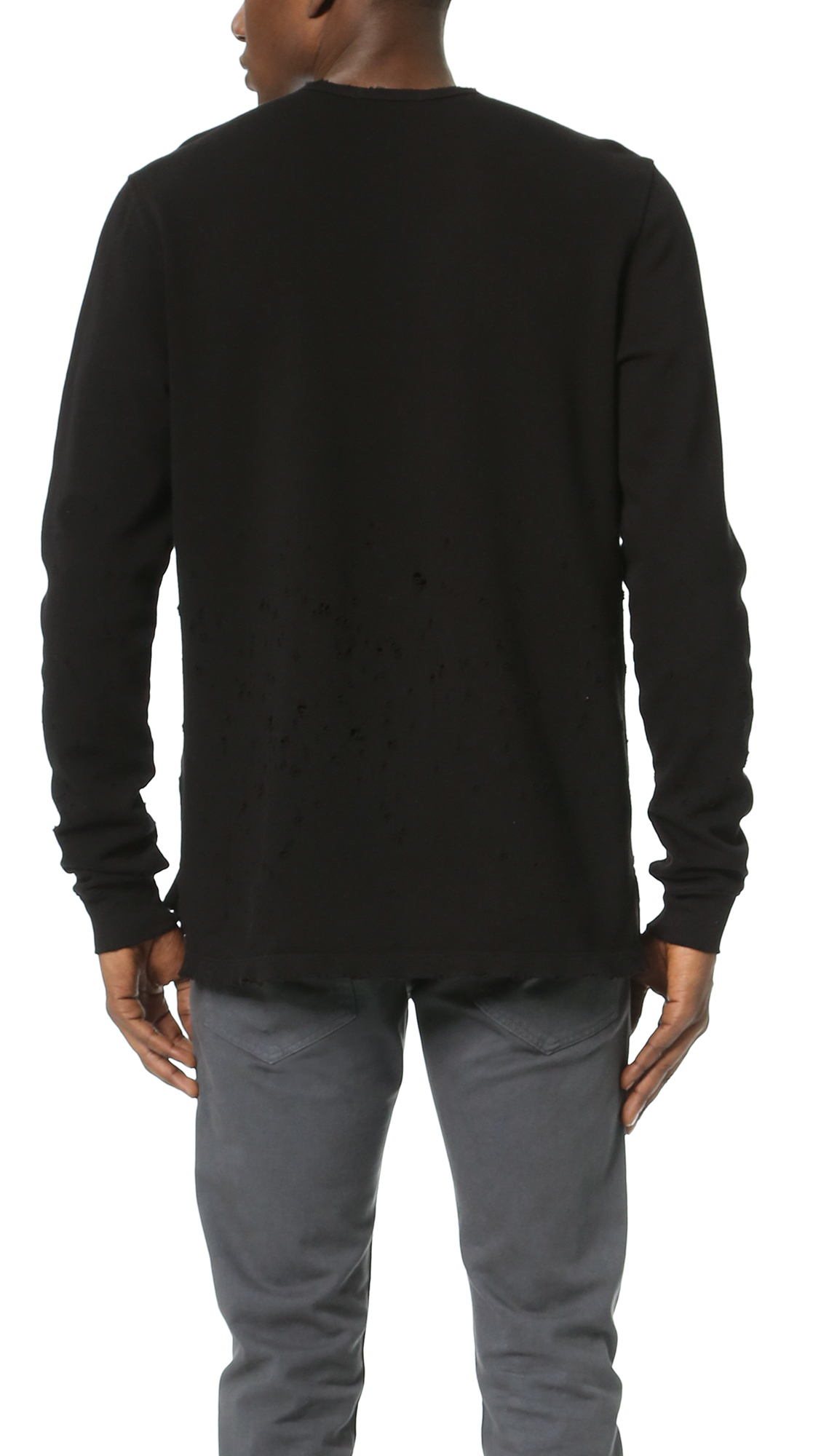 Cotton citizen The Malibu Crew Sweatshirt in Black for Men  Lyst