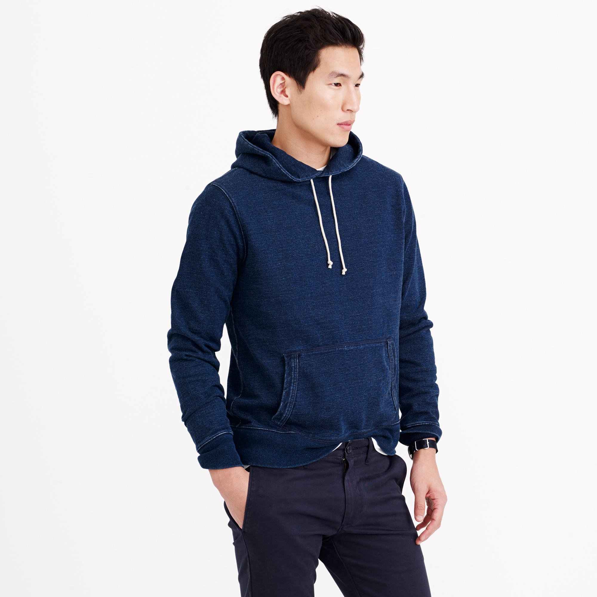 J Crew Wallace Amp Barnes Indigo Pullover Hoodie In Blue For