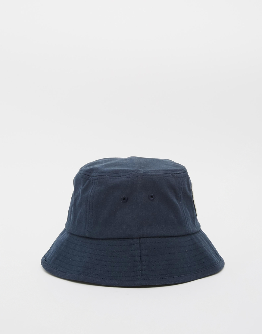 Lyst - WOOD WOOD Bucket Hat In Navy in Blue for Men 6cafcffab672
