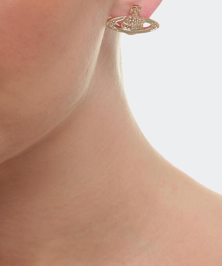 87d21af02263d6 Vivienne Westwood Mini Bas Relief Earrings in Metallic - Lyst
