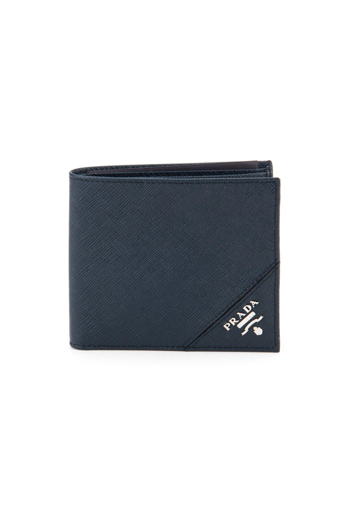 Prada Saffiano Wallet in Blue for Men (BALTICO) | Lyst