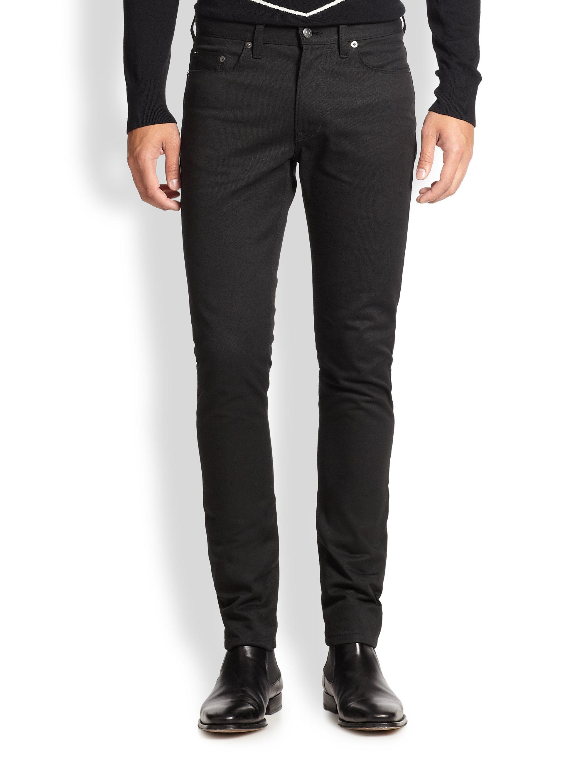kent curwen slim fit jeans in black for men lyst. Black Bedroom Furniture Sets. Home Design Ideas