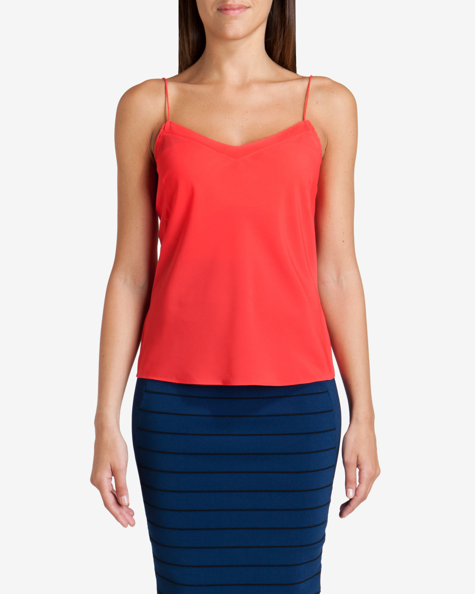 8ce860a208ad5f Lyst - Ted Baker Scalloped Edge Cami Top in Orange
