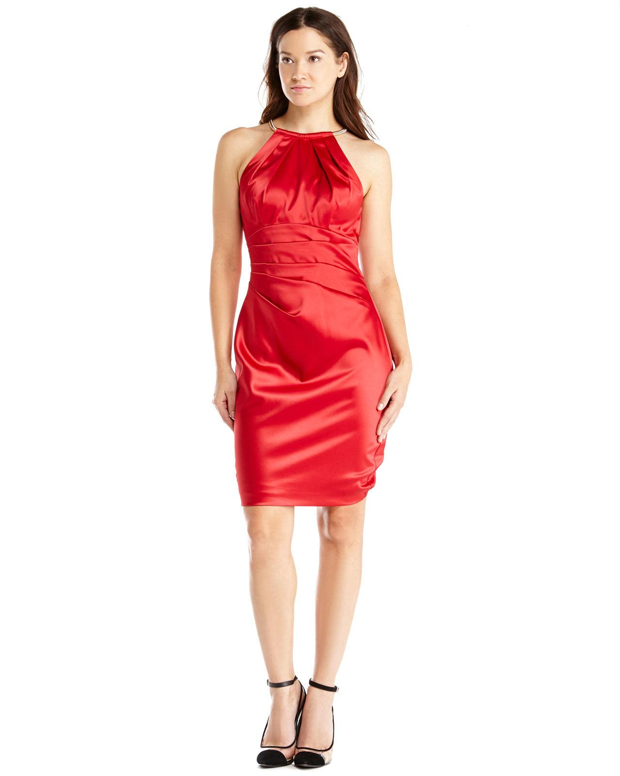 Red White Blue Halter Dress