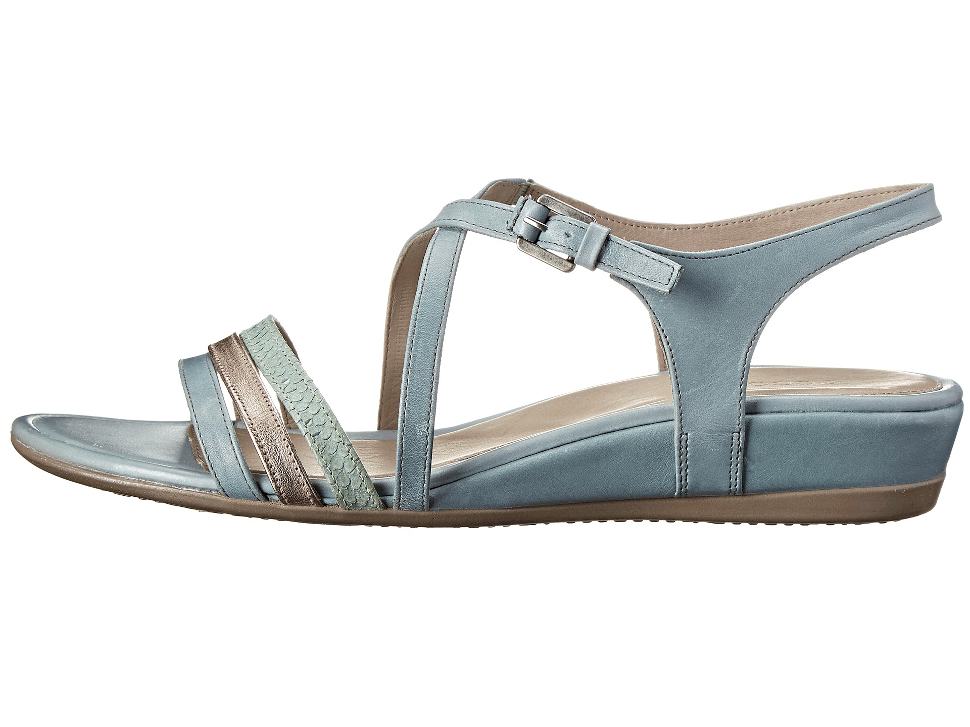 Lyst Ecco Touch 25 Strap Sandal in Blue
