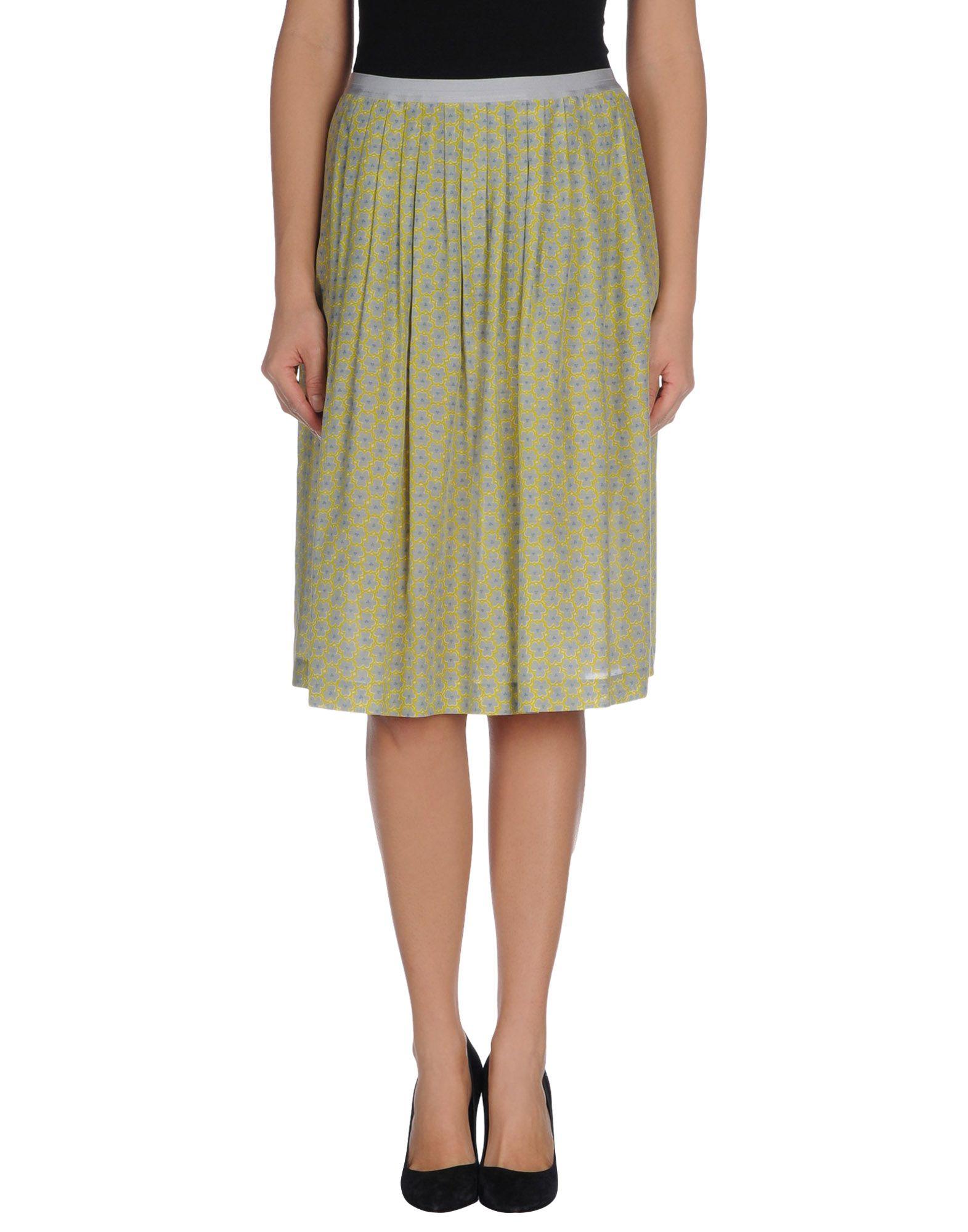siyu knee length skirt in green lyst