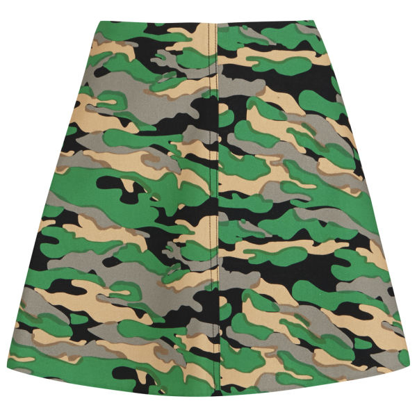 carven womens camo skirt in green lyst