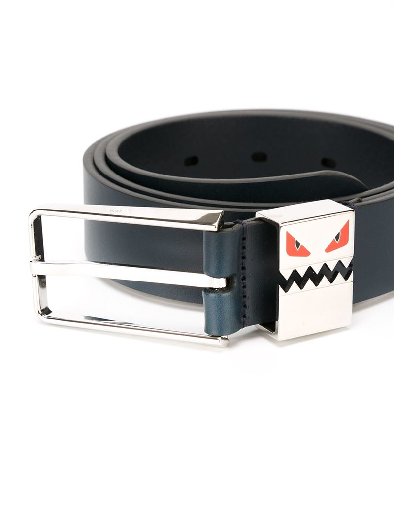Lyst - Fendi Bag Bugs Belt in Blue for Men
