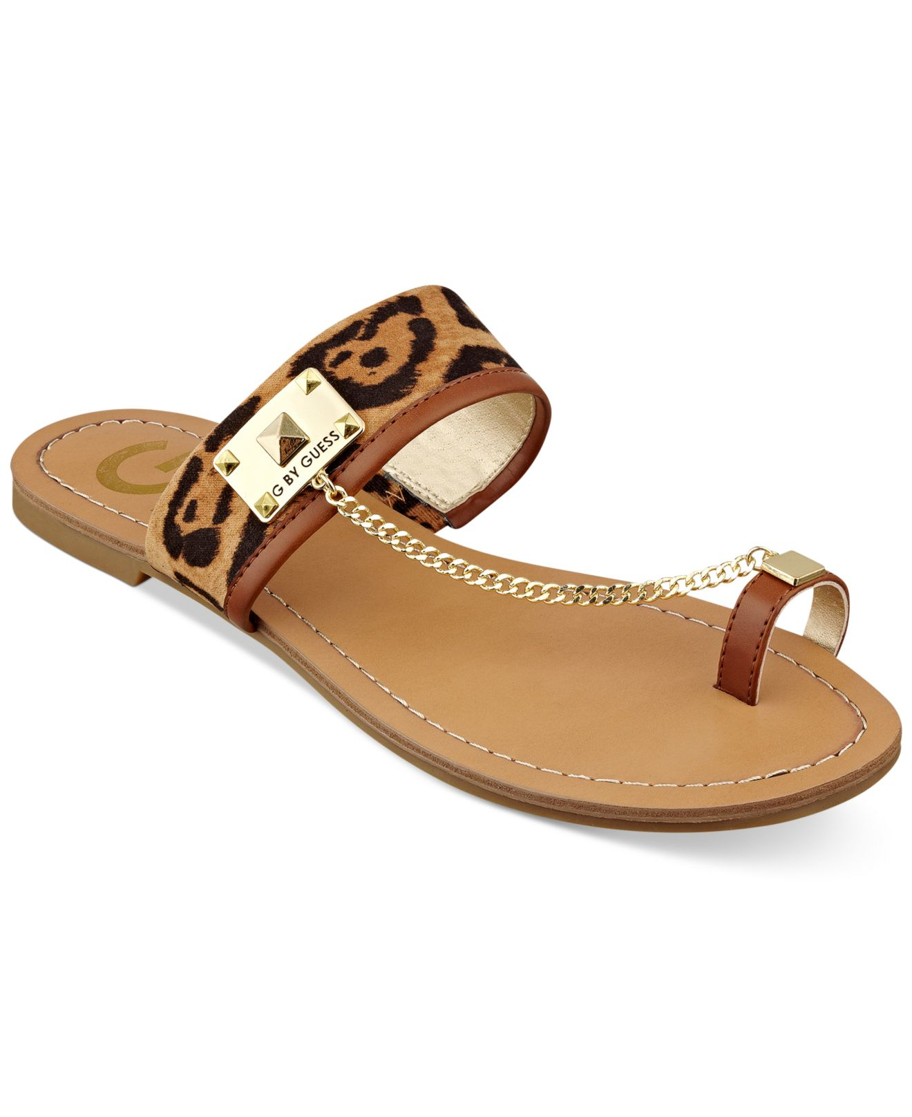 81338d1f023 Lyst - G by Guess Women S Lucia Toe Ring Flat Sandals