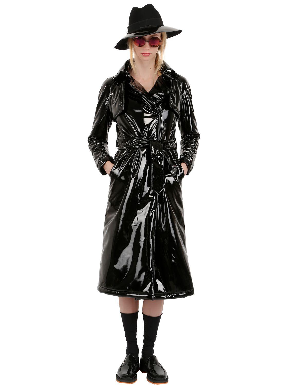 Wanda Nylon Wanda Vinyl Trench Coat In Black Lyst
