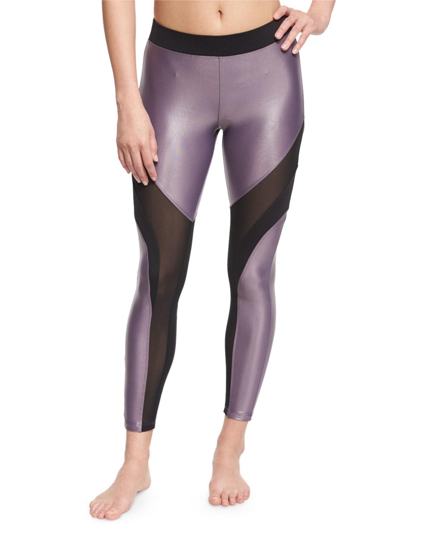 b898f180ca1076 Koral activewear Frame Mesh-panel Sport Leggings in Gray | Lyst