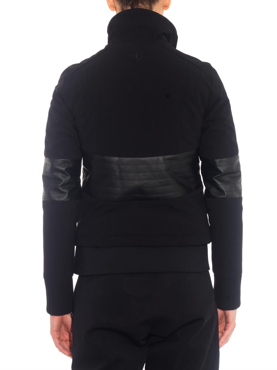 Lacroix Aspen Leather Panel Ski Jacket In Black Lyst