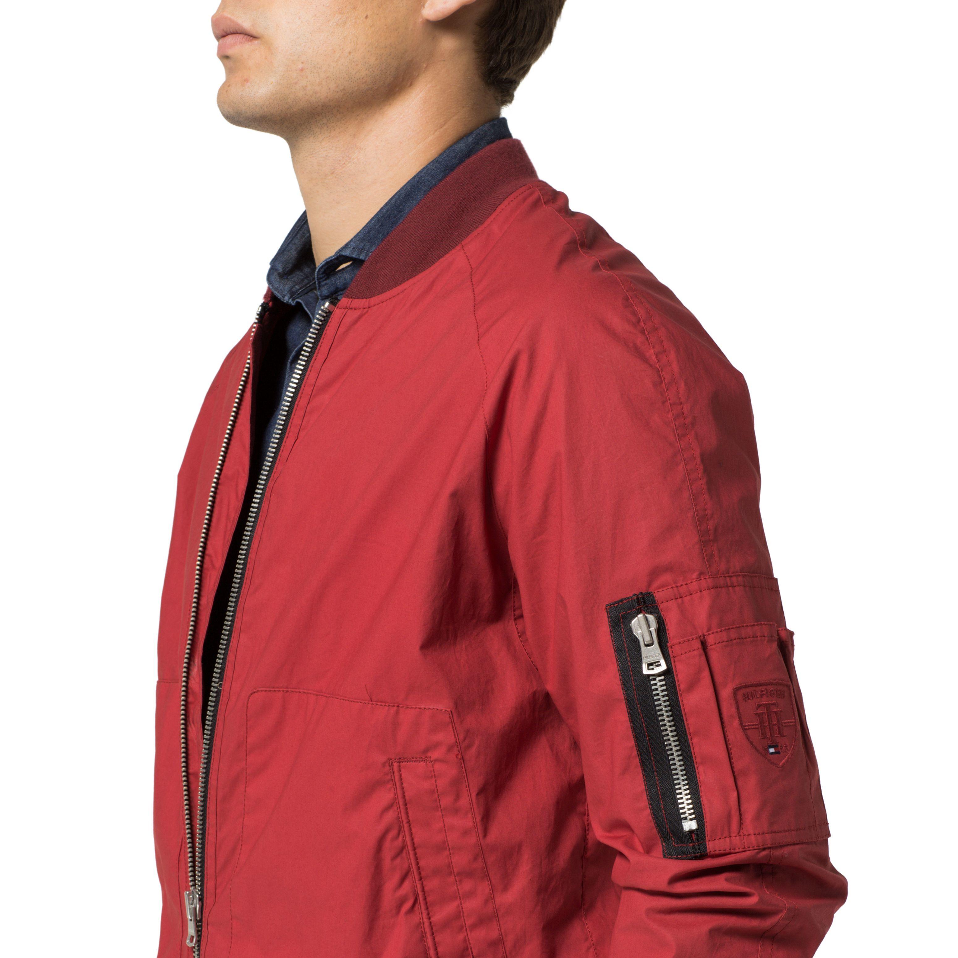 tommy hilfiger colton bomber jacket in red for men lyst. Black Bedroom Furniture Sets. Home Design Ideas