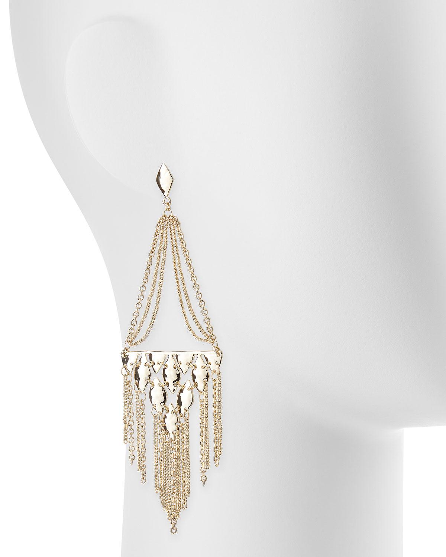 Lyst kendra scott mandy tassel chandelier earrings in metallic gallery arubaitofo Images
