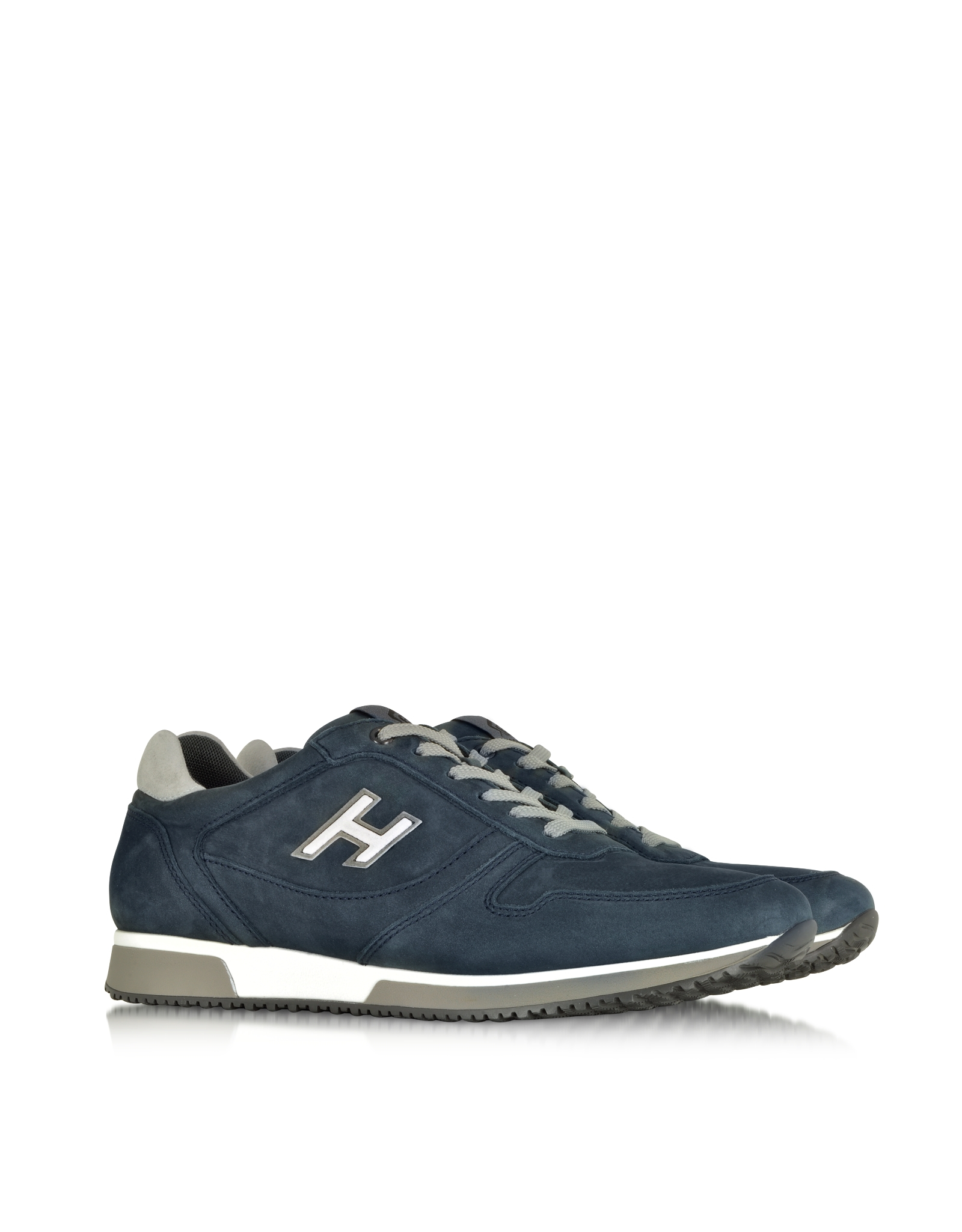 hogan h198 slash h flock sneaker in blue lyst. Black Bedroom Furniture Sets. Home Design Ideas