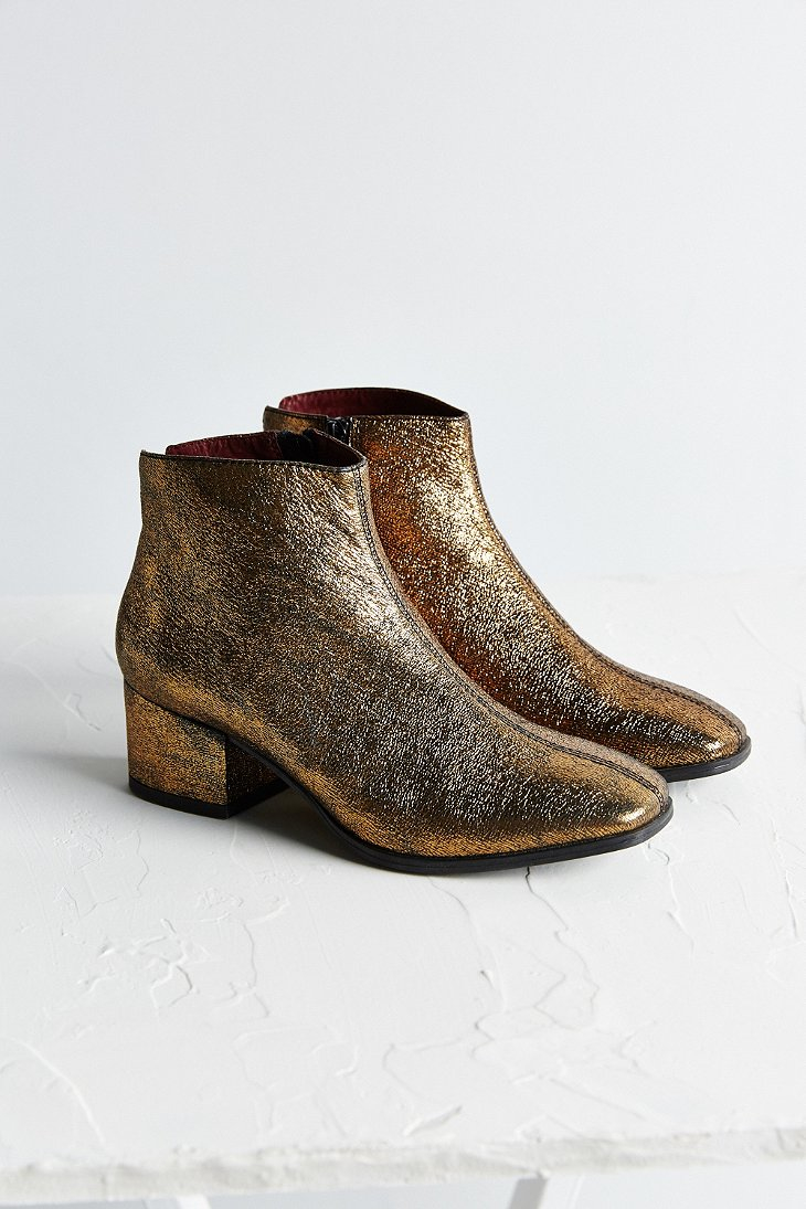 Lyst Vagabond Daisy Metallic Ankle Boot In Metallic