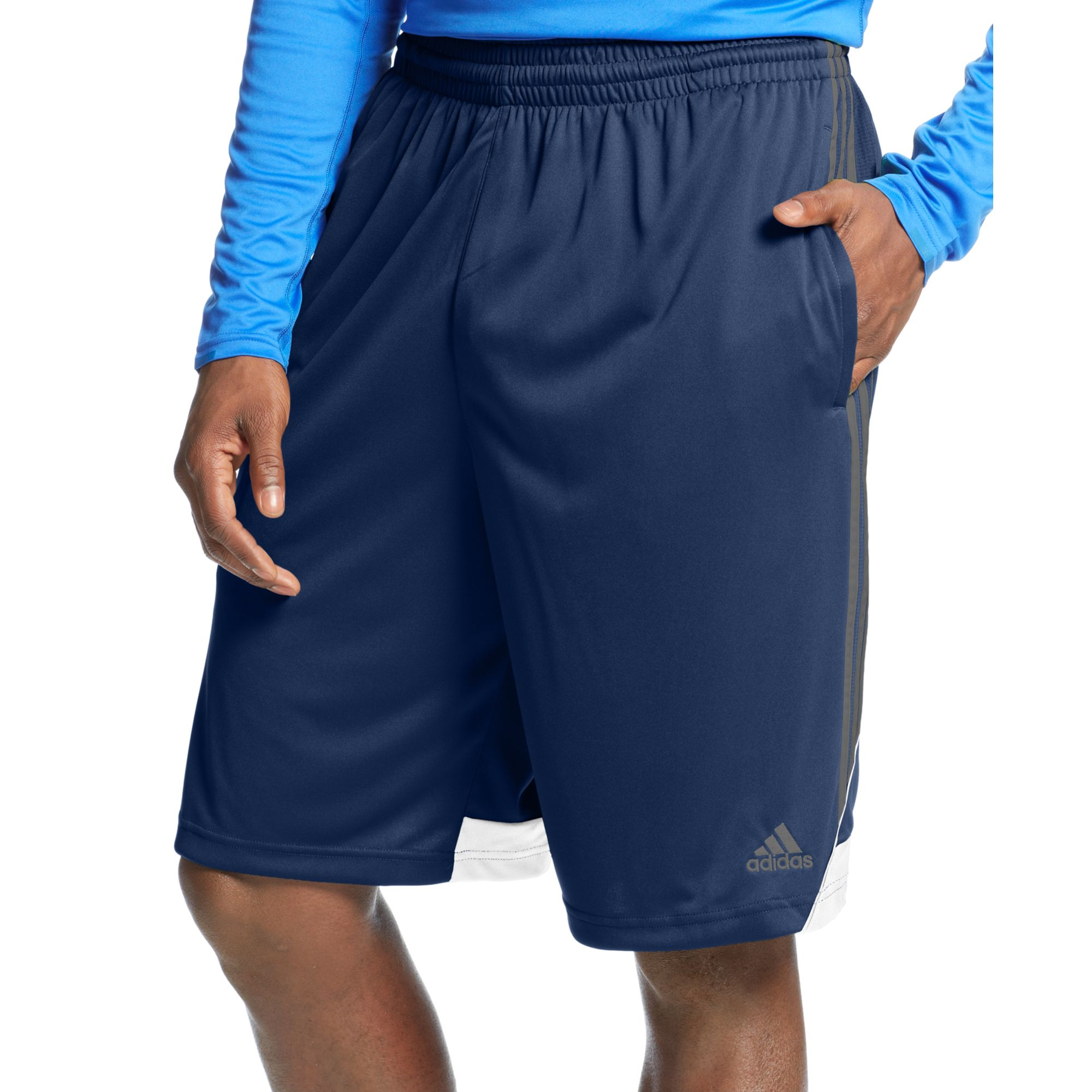 adidas 3g speed climalite shorts big and tall in blue for. Black Bedroom Furniture Sets. Home Design Ideas