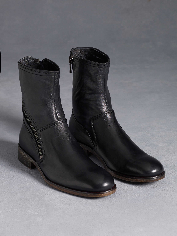 Lyst John Varvatos Rocker Twisted Zip Boot In Black For Men
