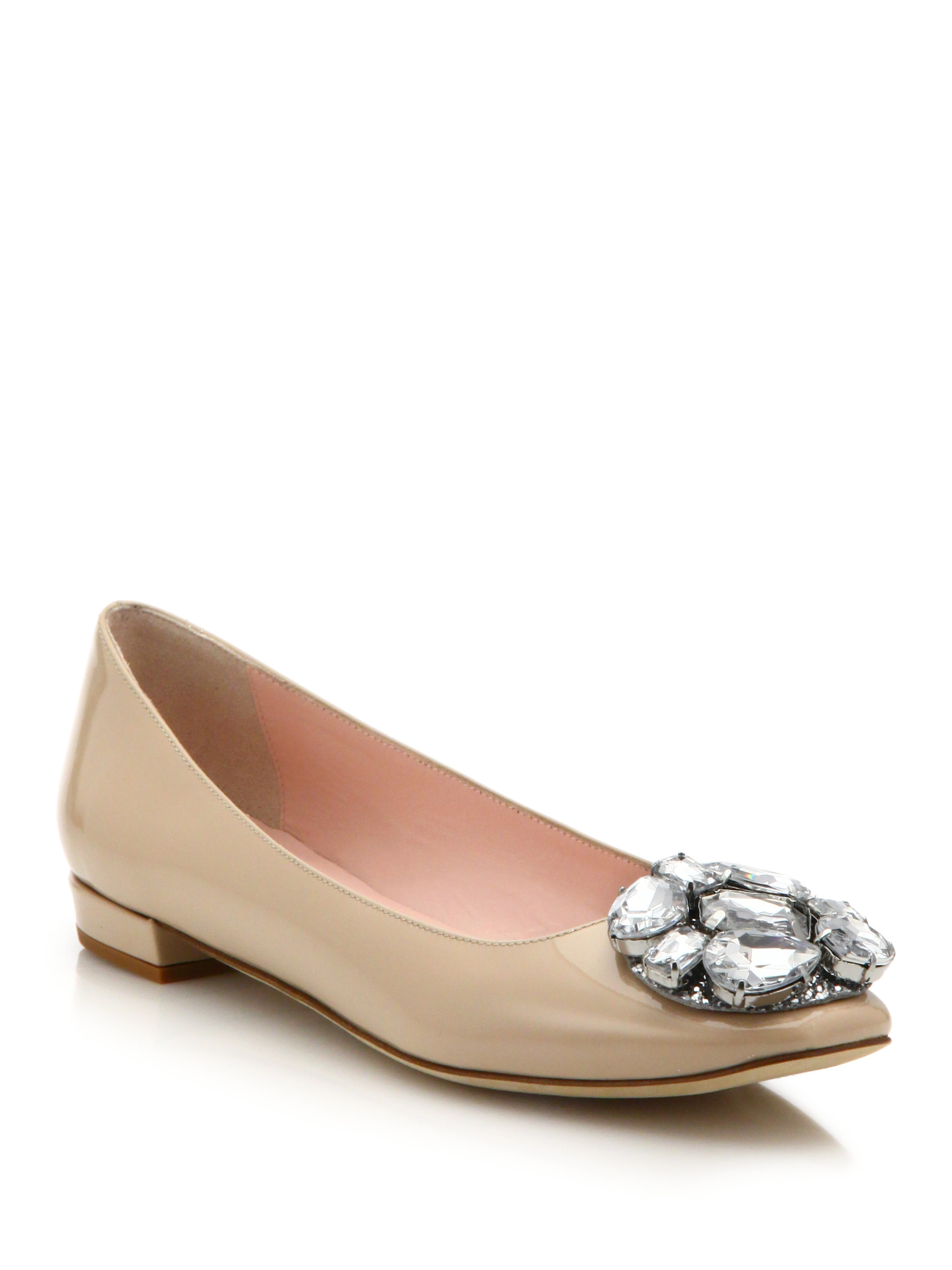 Kate Spade New York Metallic Jewel-Embellished Flats