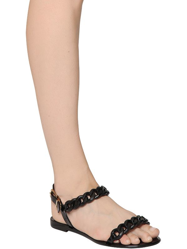 582cd47a6d82 Lyst - Givenchy 10mm Nea Jelly Sandals in Black