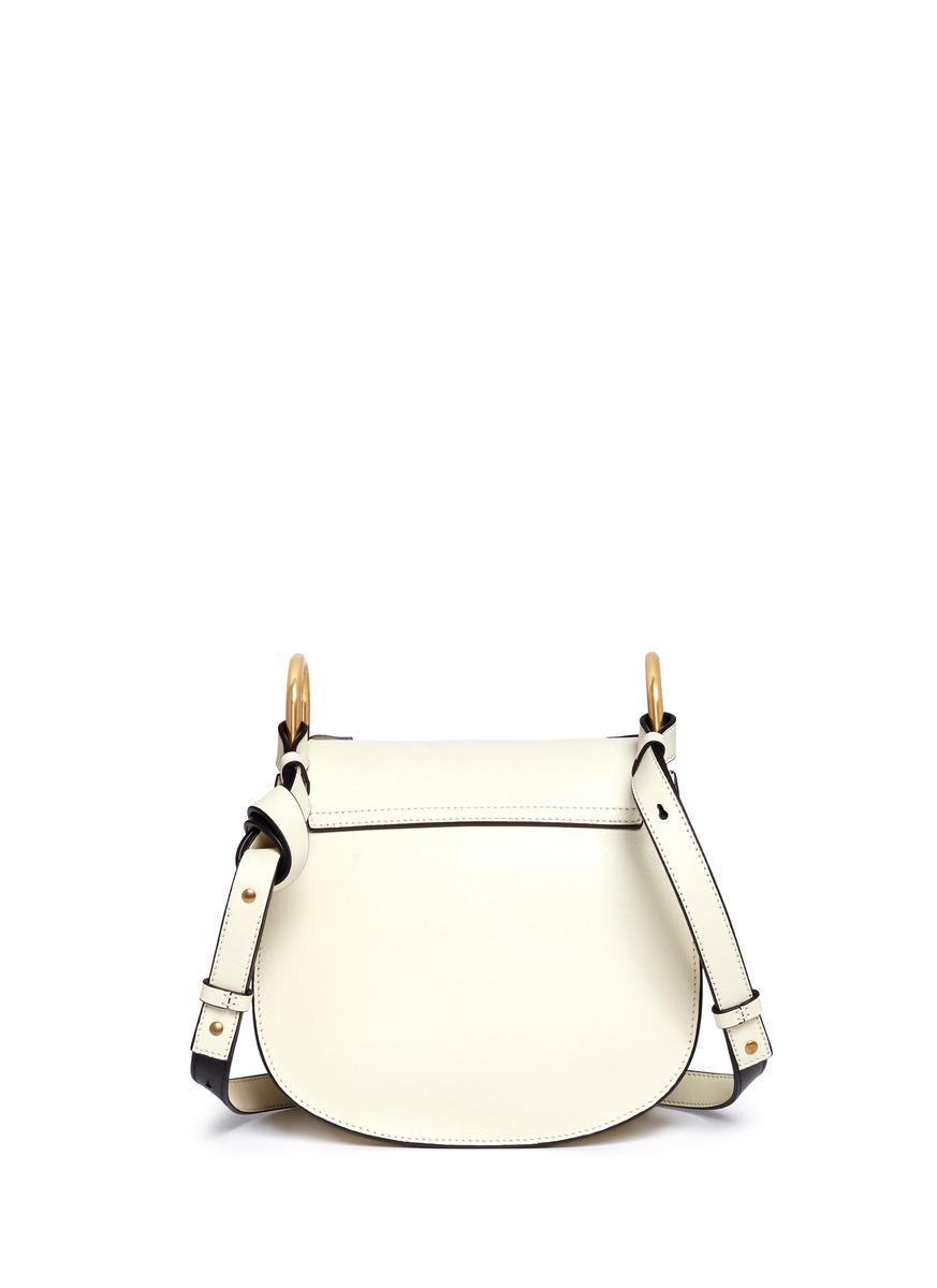 chloe hudson mini rivet fold trim leather shoulder bag