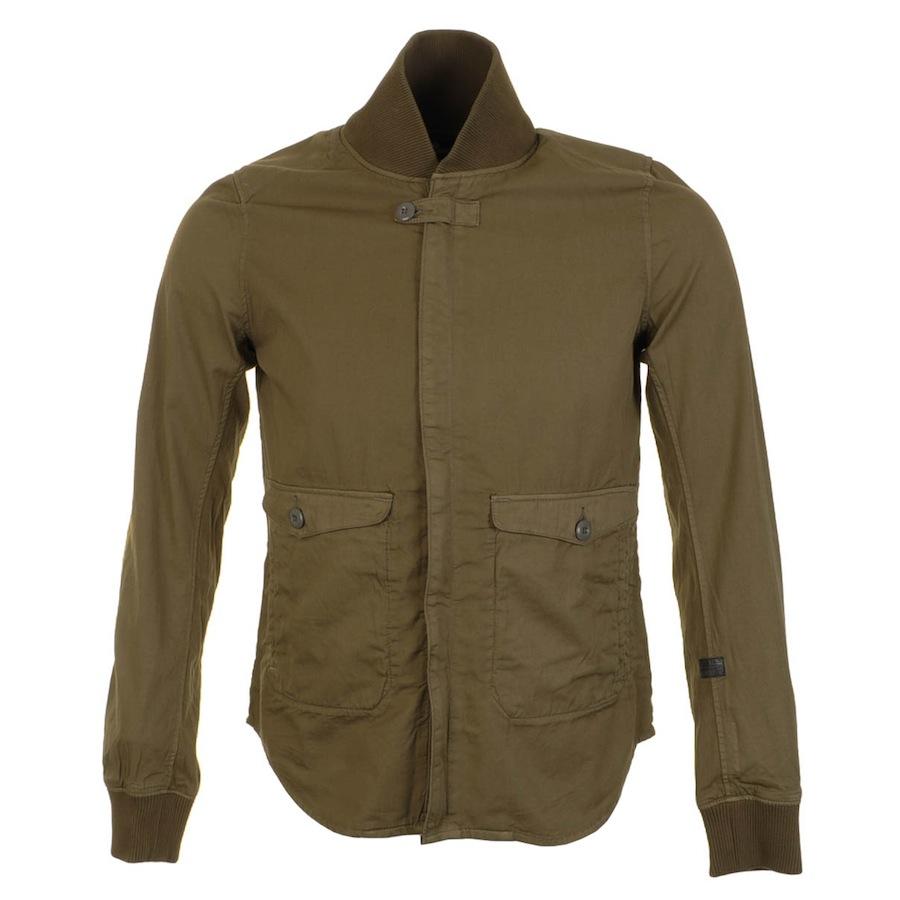 g star raw harben overshirt jacket army in green for men. Black Bedroom Furniture Sets. Home Design Ideas
