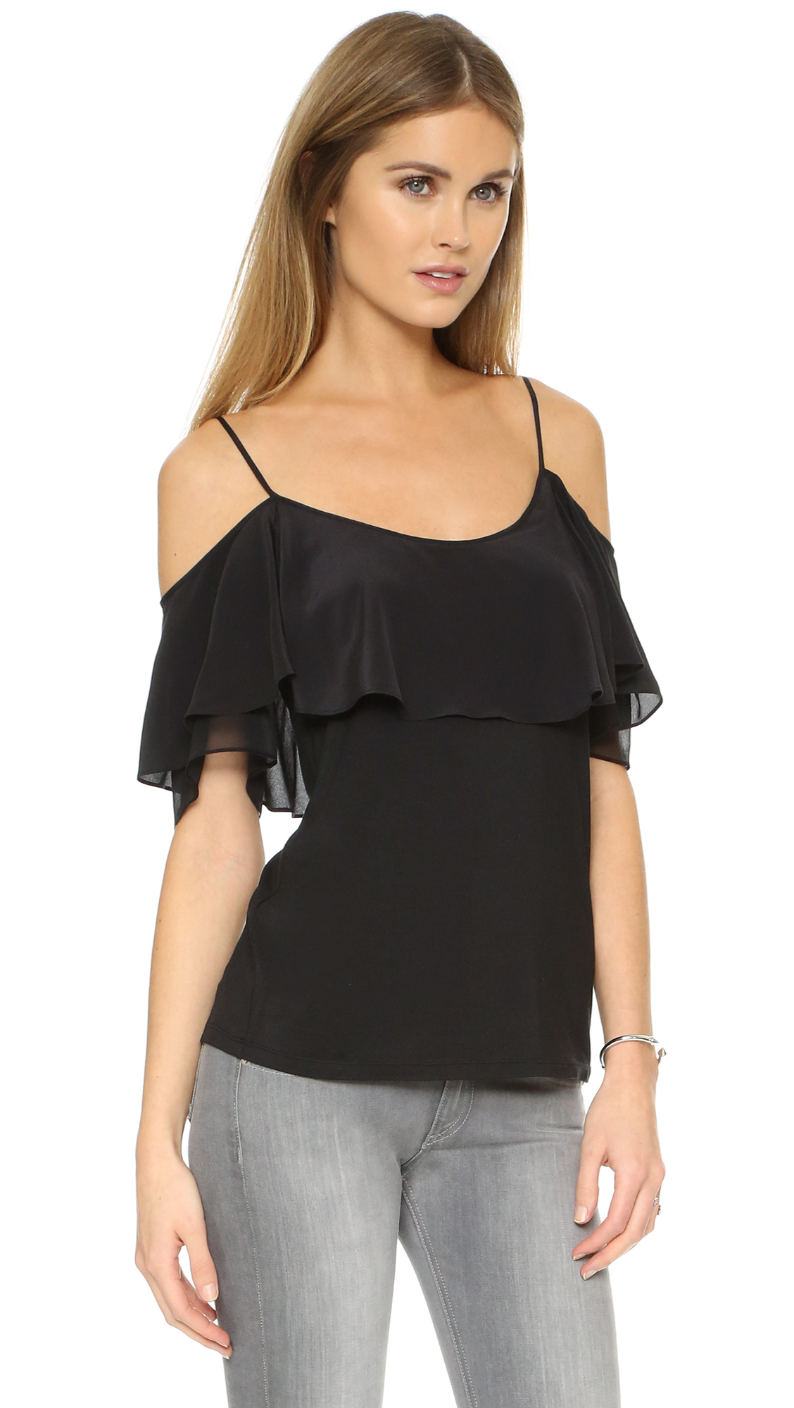 ella moss bella off shoulder blouse in black lyst. Black Bedroom Furniture Sets. Home Design Ideas
