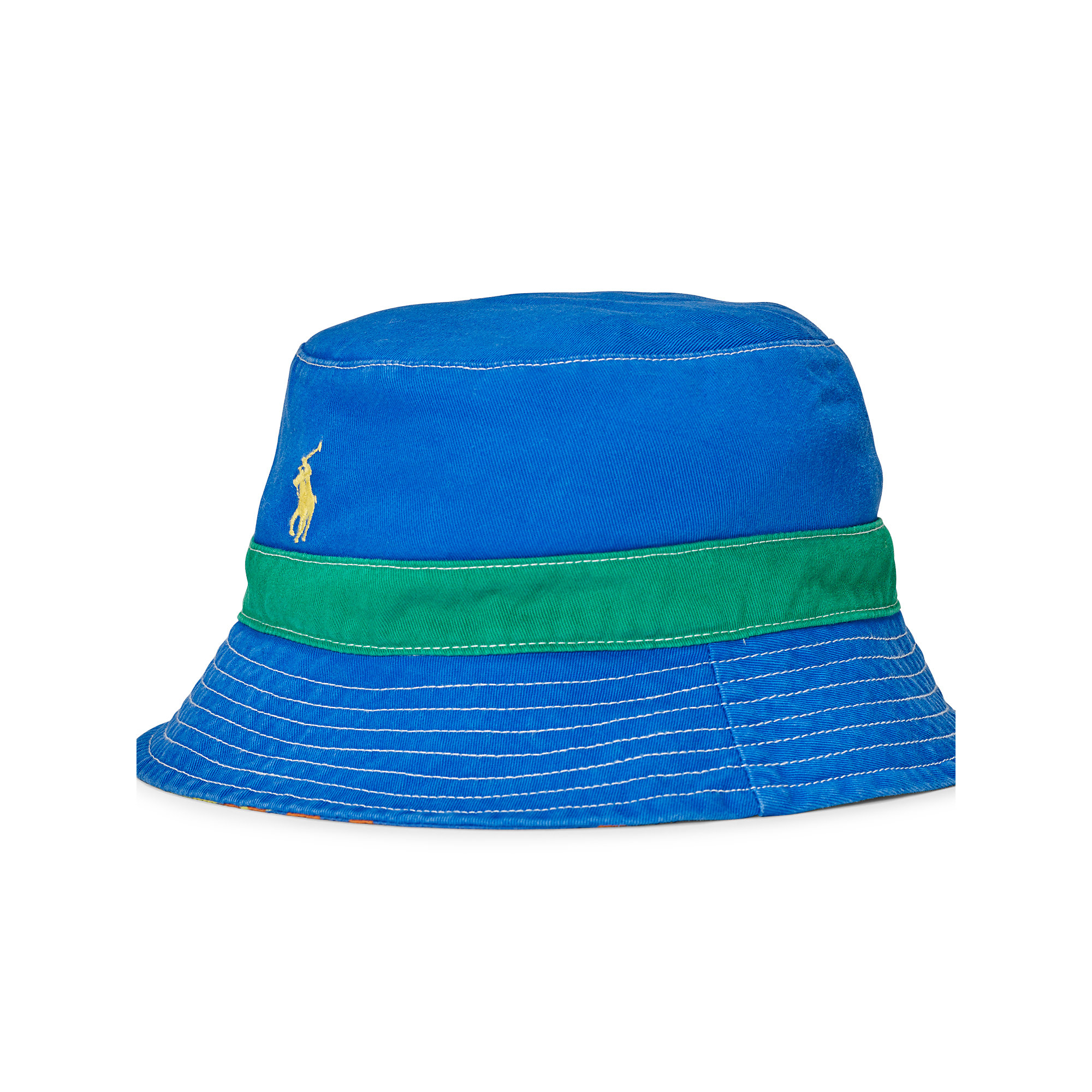 c8a02e56 Polo Ralph Lauren Reversible Twill Bucket Hat for Men - Lyst