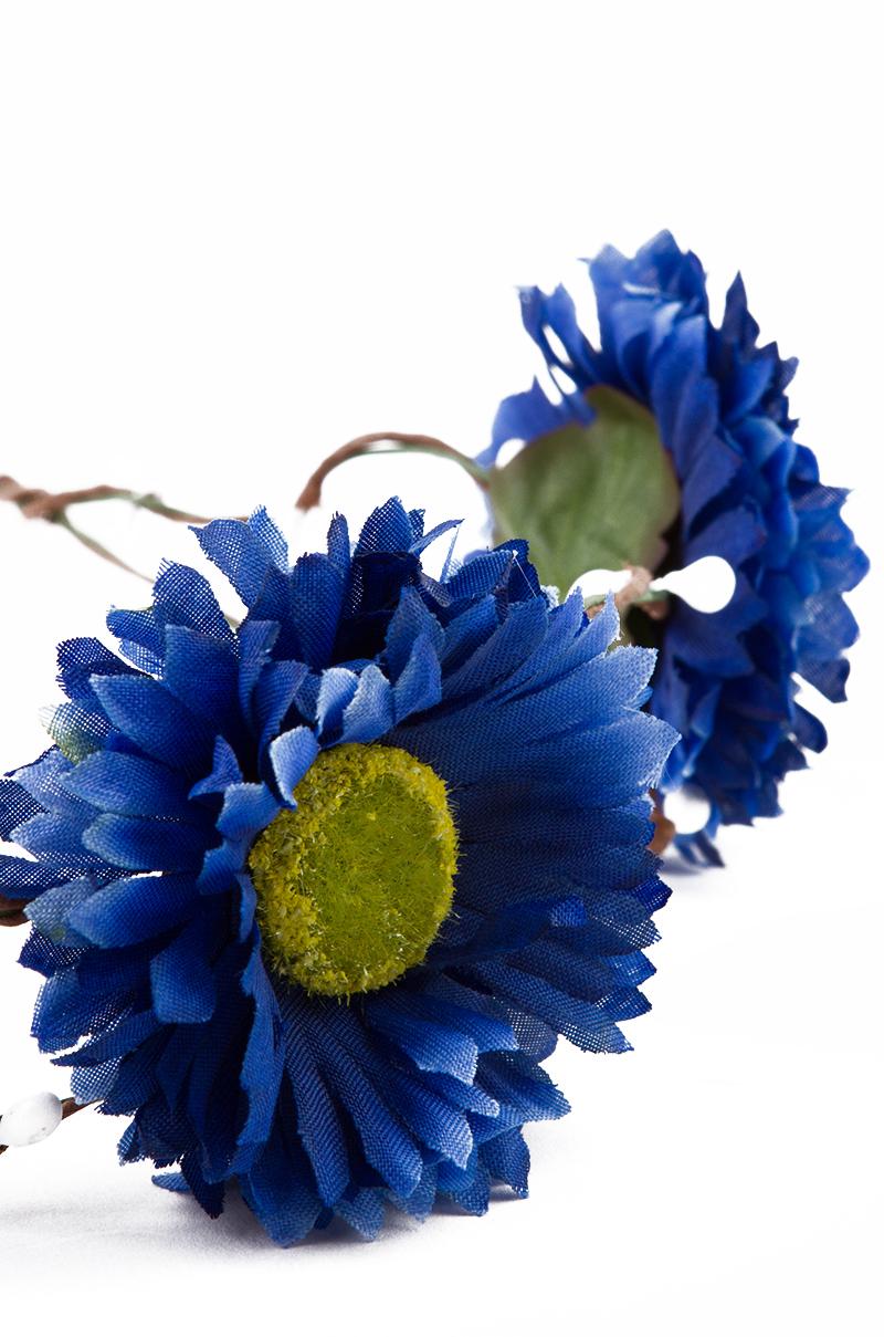 Lyst akira blue flower crown headpiece in blue gallery izmirmasajfo