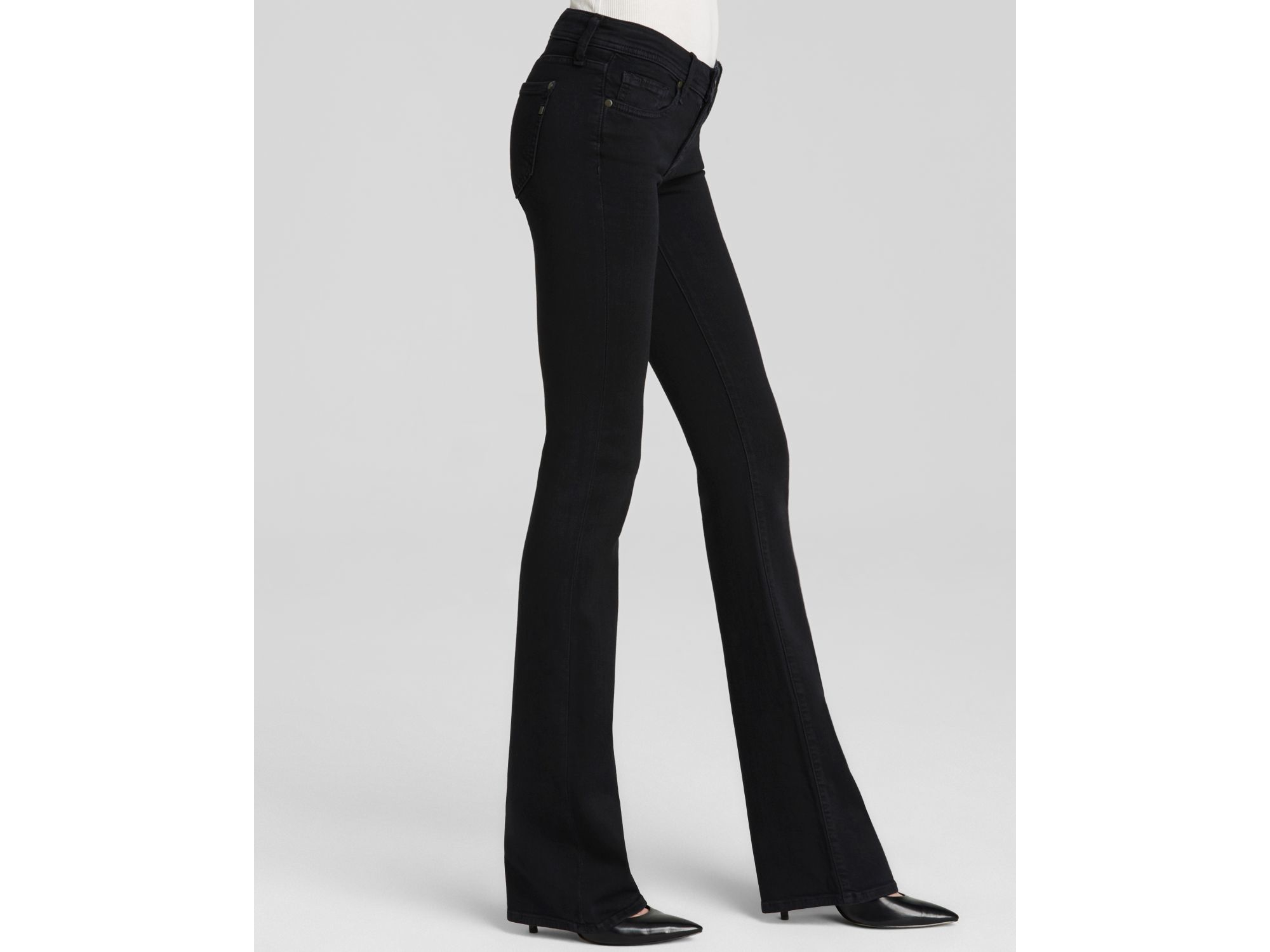 Genetic denim Jeans - The Riley Bootcut In Dark Tin in Black | Lyst
