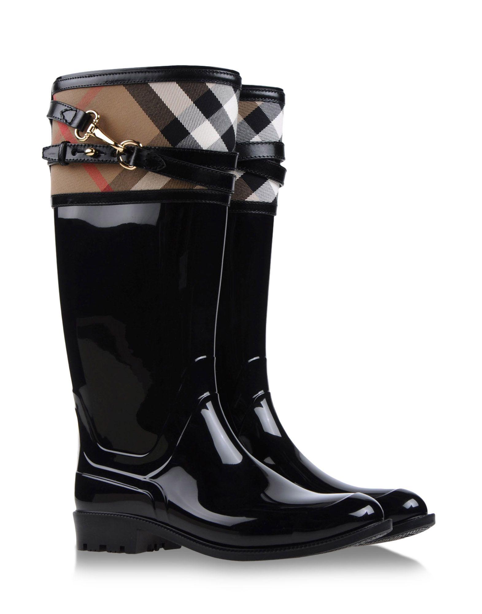 burberry rainboots amp wellies in black lyst