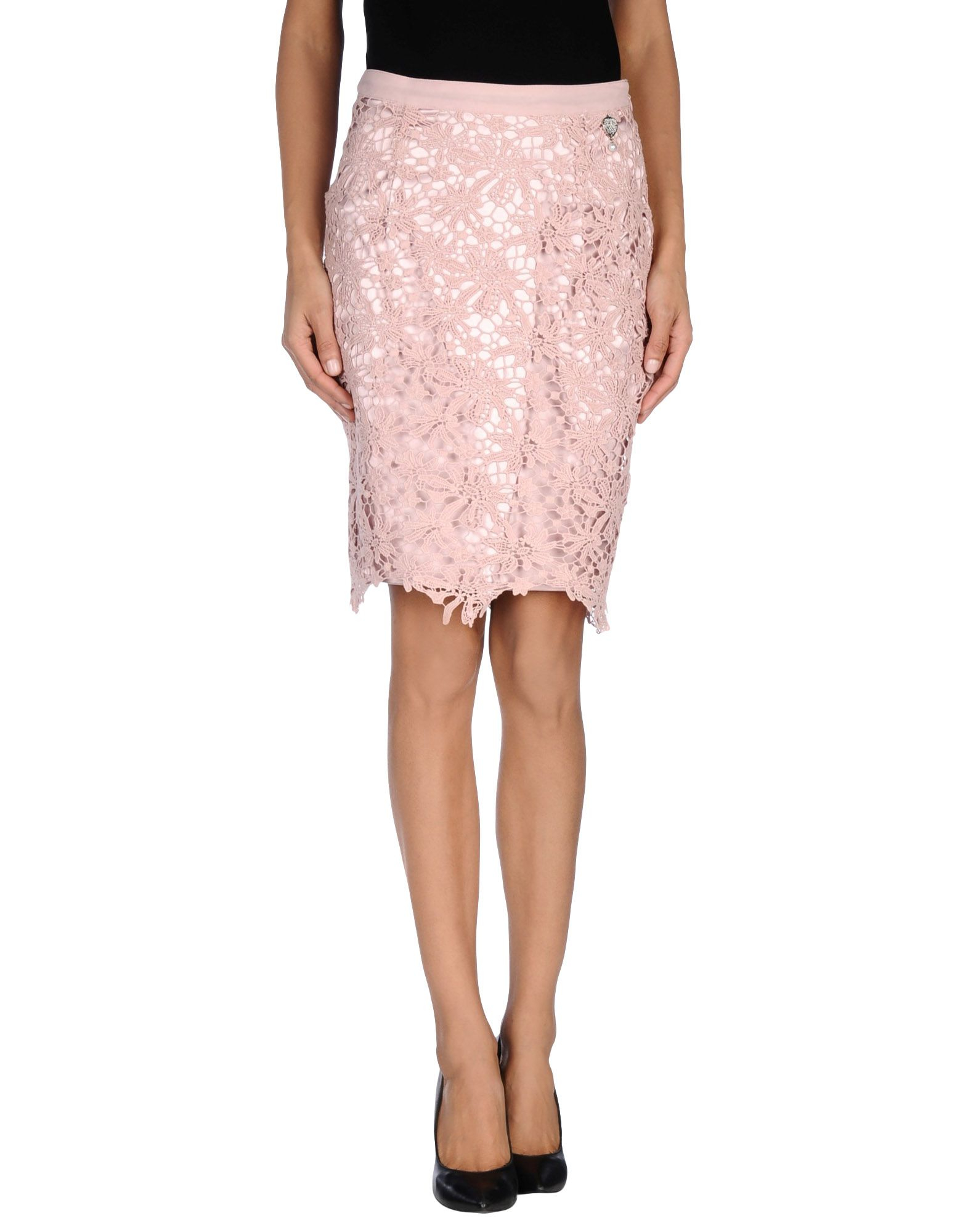 Twin Set Knee Length Skirt In Pink Light Pink Lyst