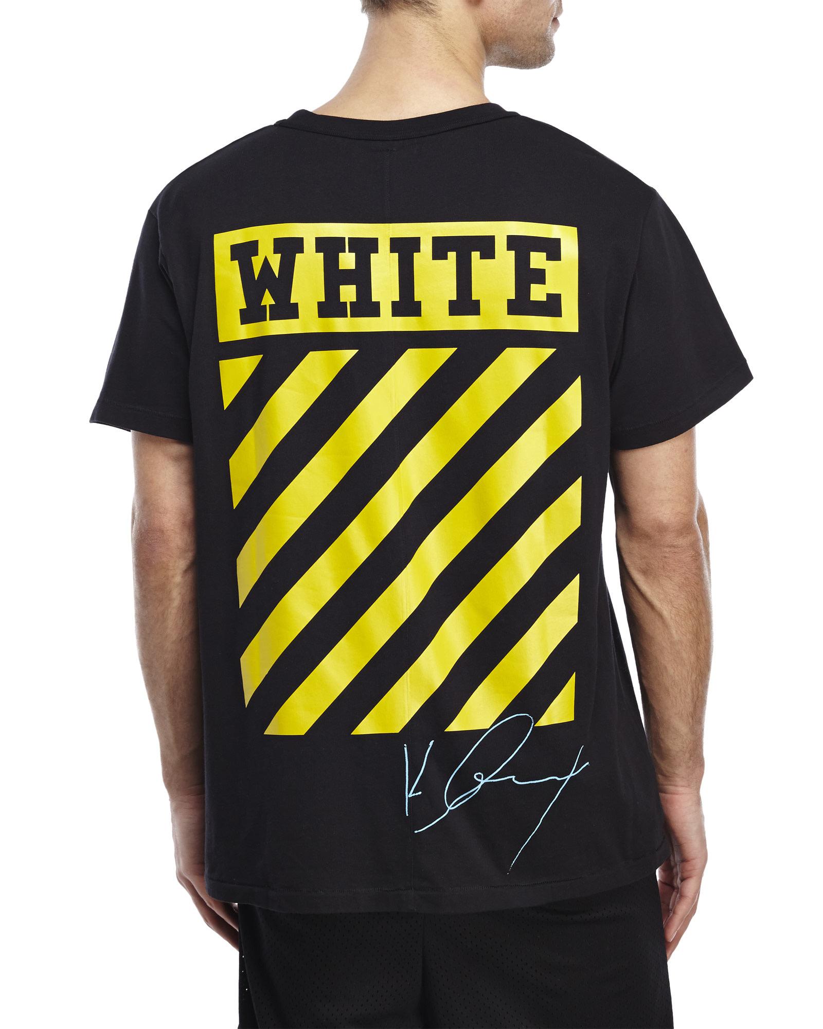 Lyst - Off-White c o Virgil Abloh Graphic T-Shirt in Black for Men 86b53208ba3b