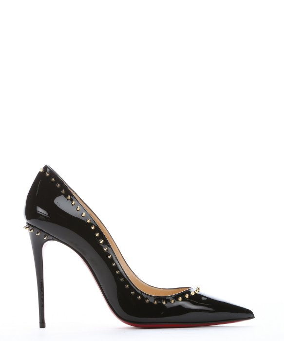 christian louboutin shoes on sale fake - Christian louboutin Black Patent Leather 'anjalina 100' Spiked ...