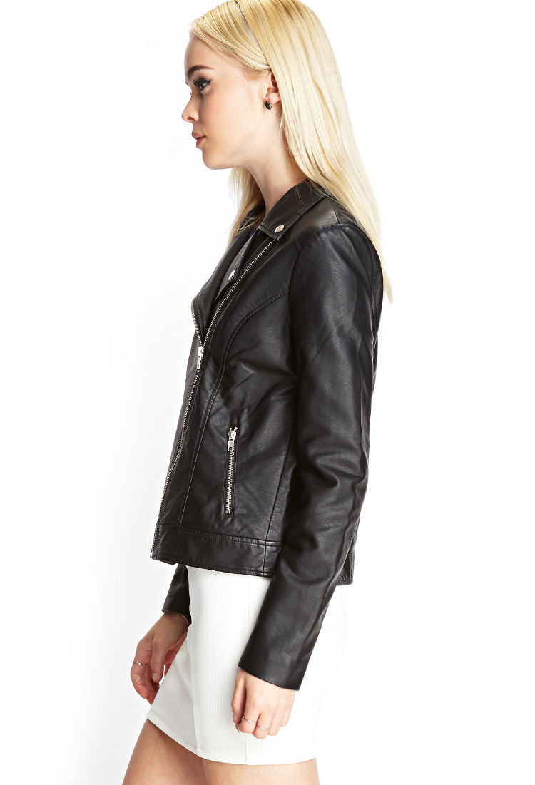Black leather jacket forever 21