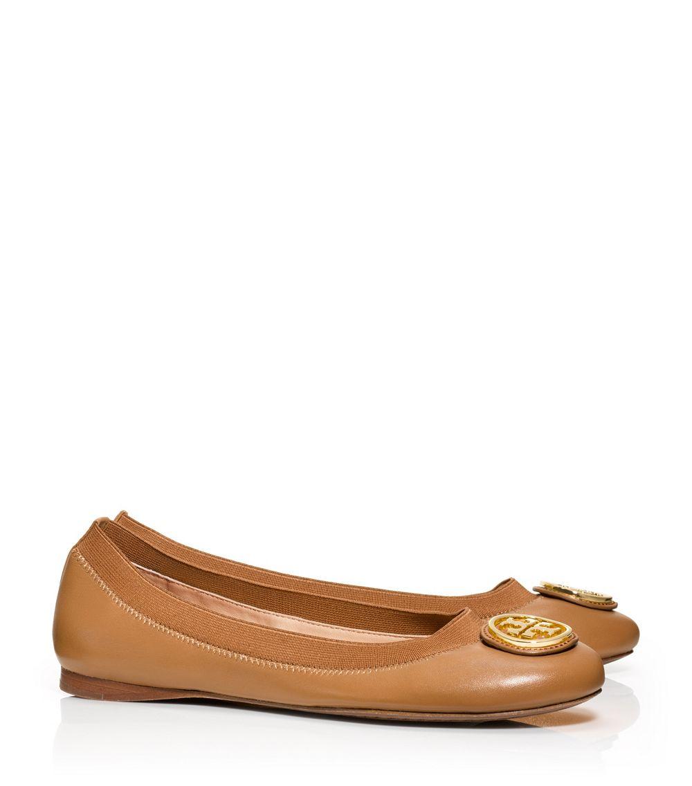 3562a3e1e Tory Burch Caroline Ballet Flat in Brown - Lyst