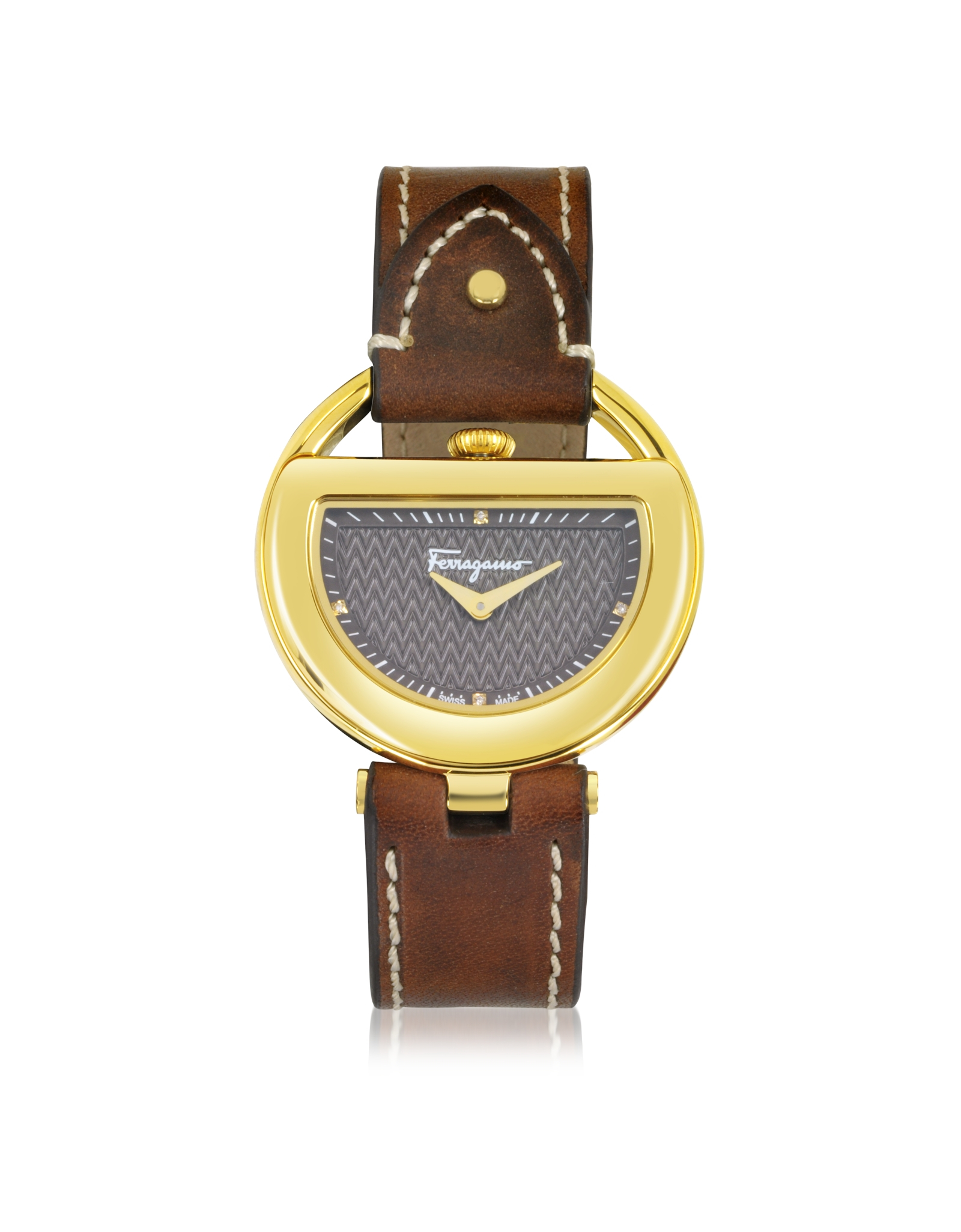 ferragamo buckle collection gold ip stainless steel