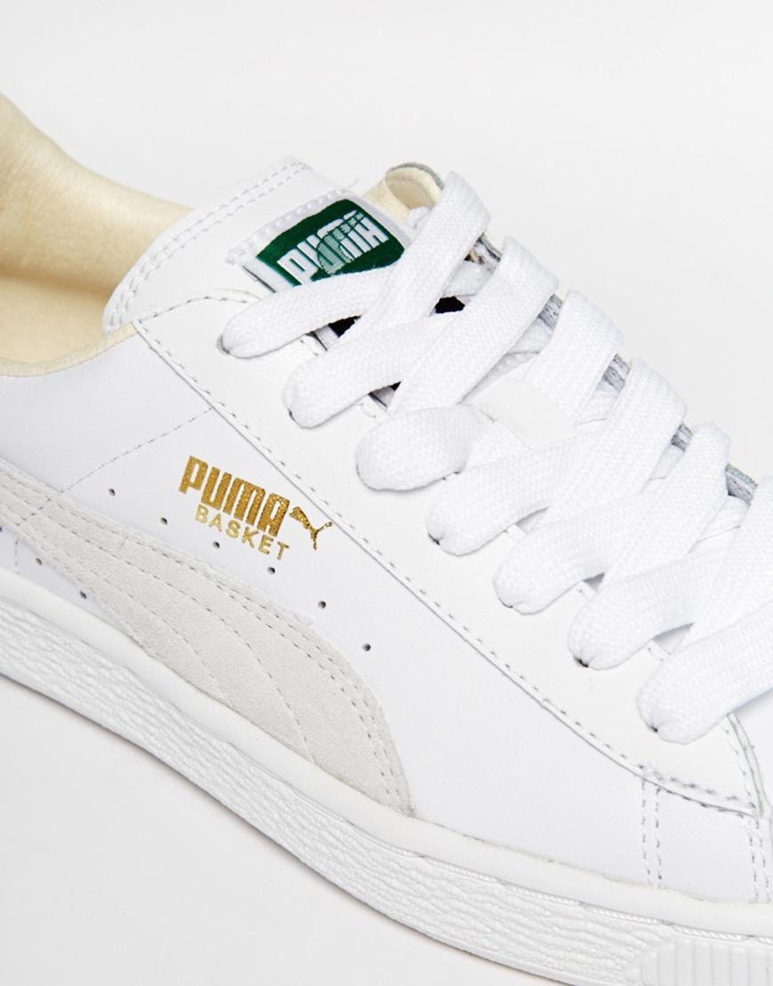 separation shoes 1156c 9e075 puma basket classic white trainers