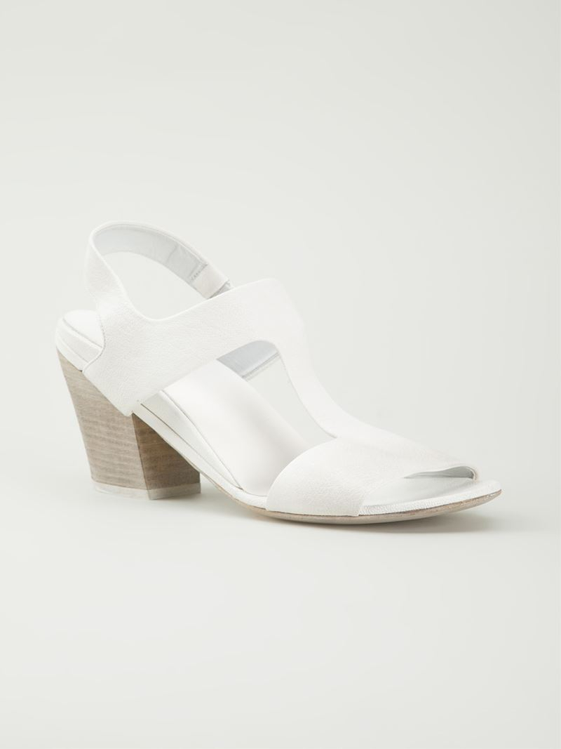 mars 232 ll chunky heels sandals in white lyst