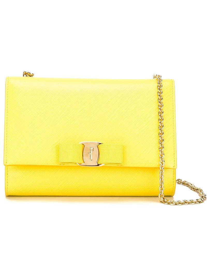 2922a1a09713 Lyst - Ferragamo  ginny  Crossbody Bag in Yellow