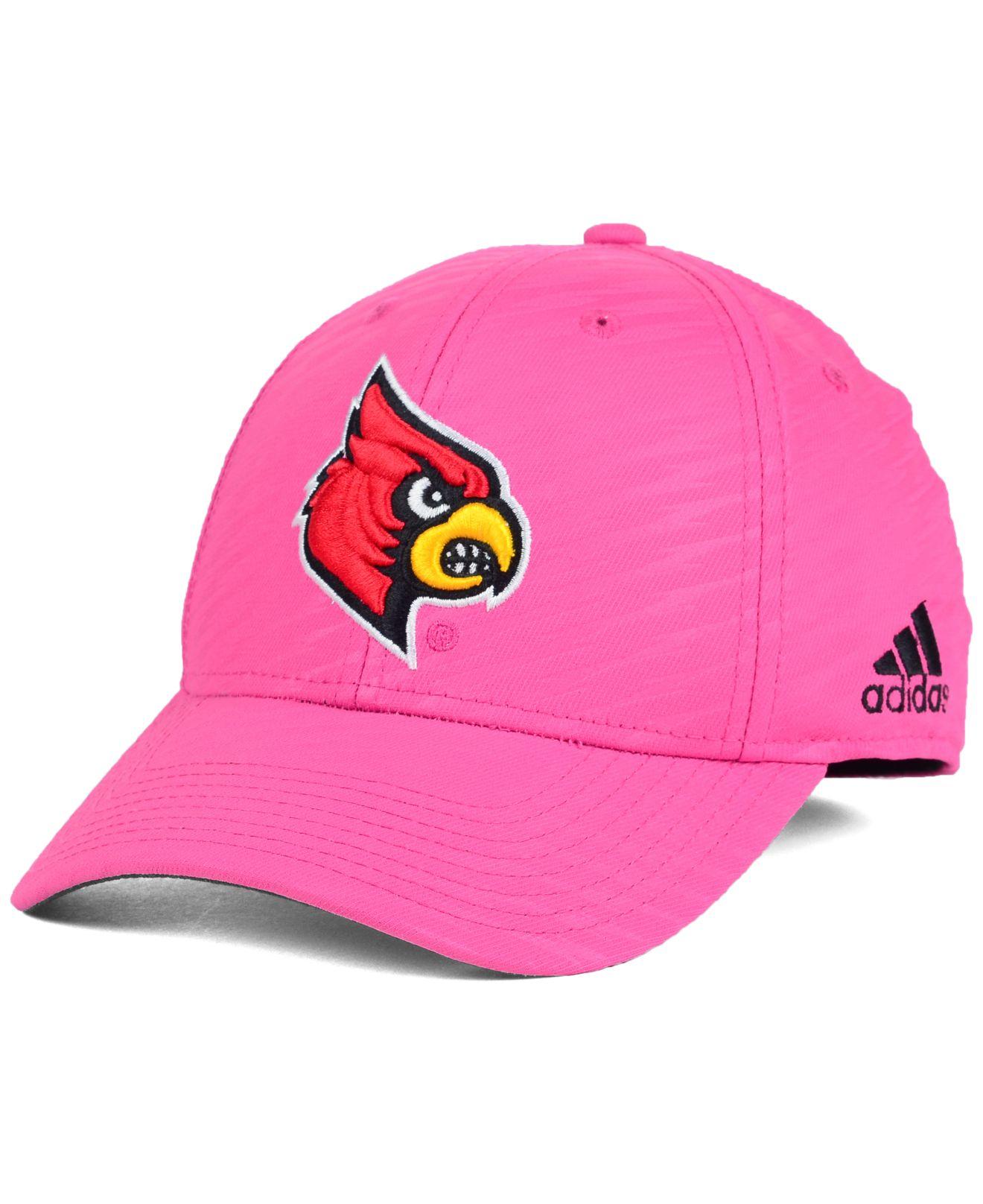 Lyst - adidas Women S Louisville Cardinals Bca Flex Cap in Pink fb2d96d52