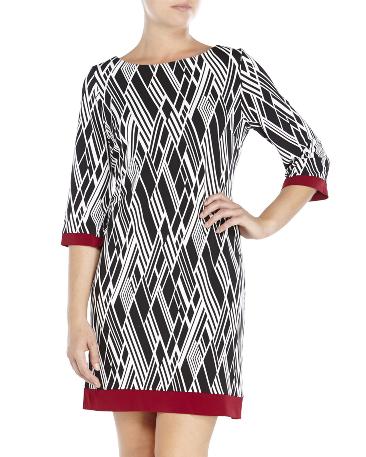 Sandra darren dresses black and white