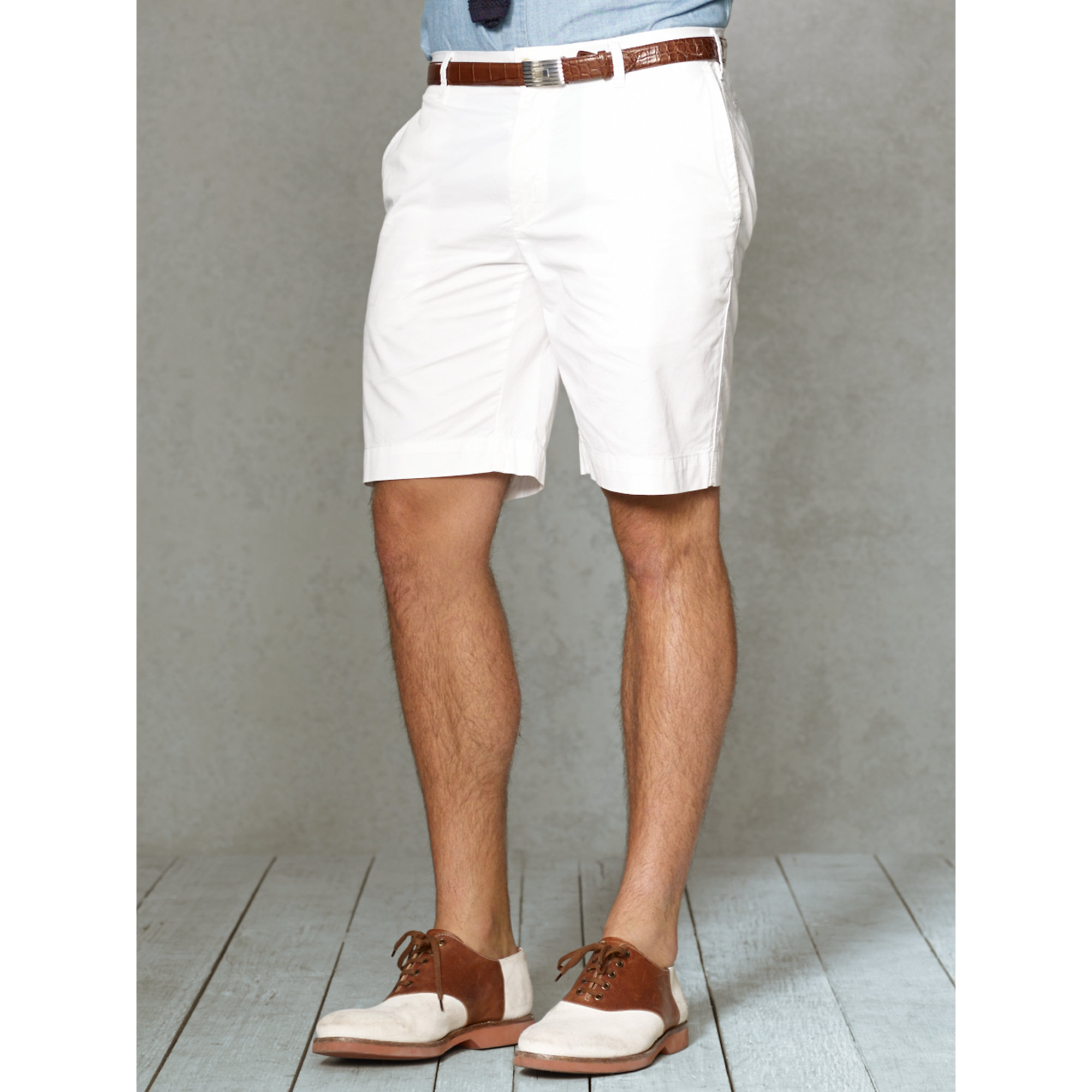 56aaa8cad Polo Ralph Lauren Classic Fit Newport Short in White for Men - Lyst