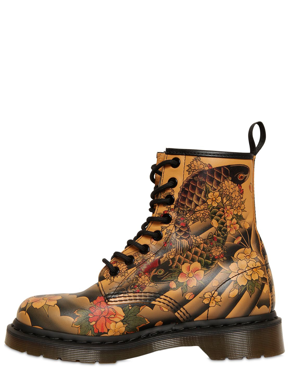 Dr. martens Floral Print Boots | Lyst