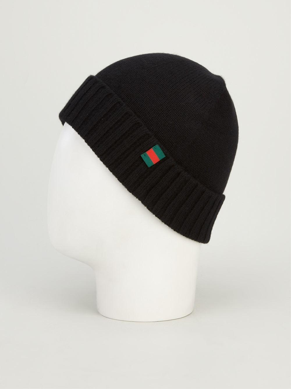 Lyst Gucci Beanie Hat In Black For Men